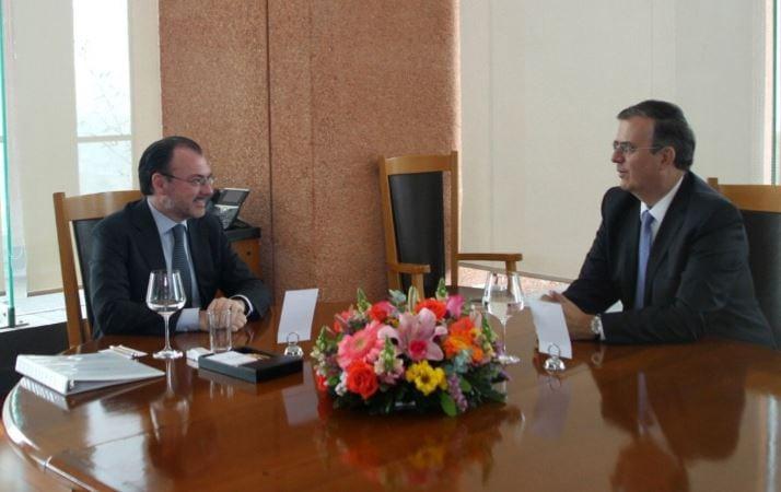 Luis Videgaray y Marcelo Ebrard se reúnen para acordar transición