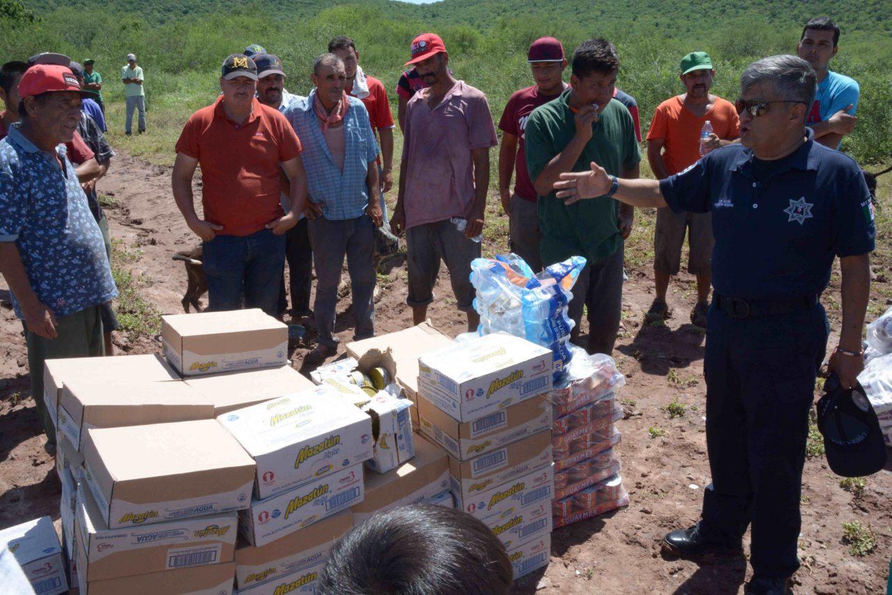 Marina mantiene apoyo a afectados por lluvias en Sinaloa