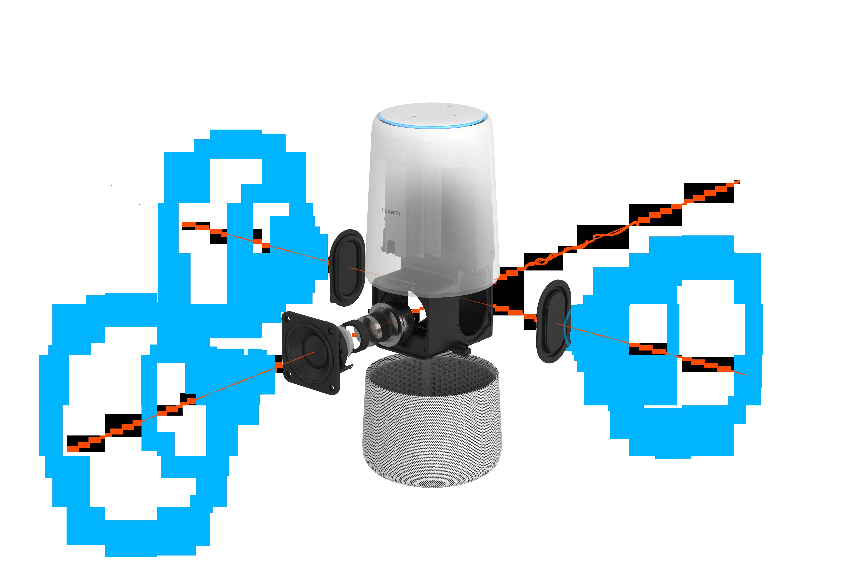 Huawei presenta su altavoz inteligente AI Cube con Alexa