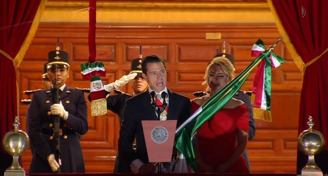 Peña Nieto da el último Grito de su gobierno