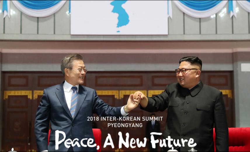 Corea del Norte se compromete a más desnuclearización y la del Sur a la paz formal