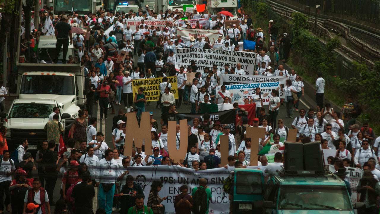 Así fue la marcha de los damnificados del 19 de septiembre