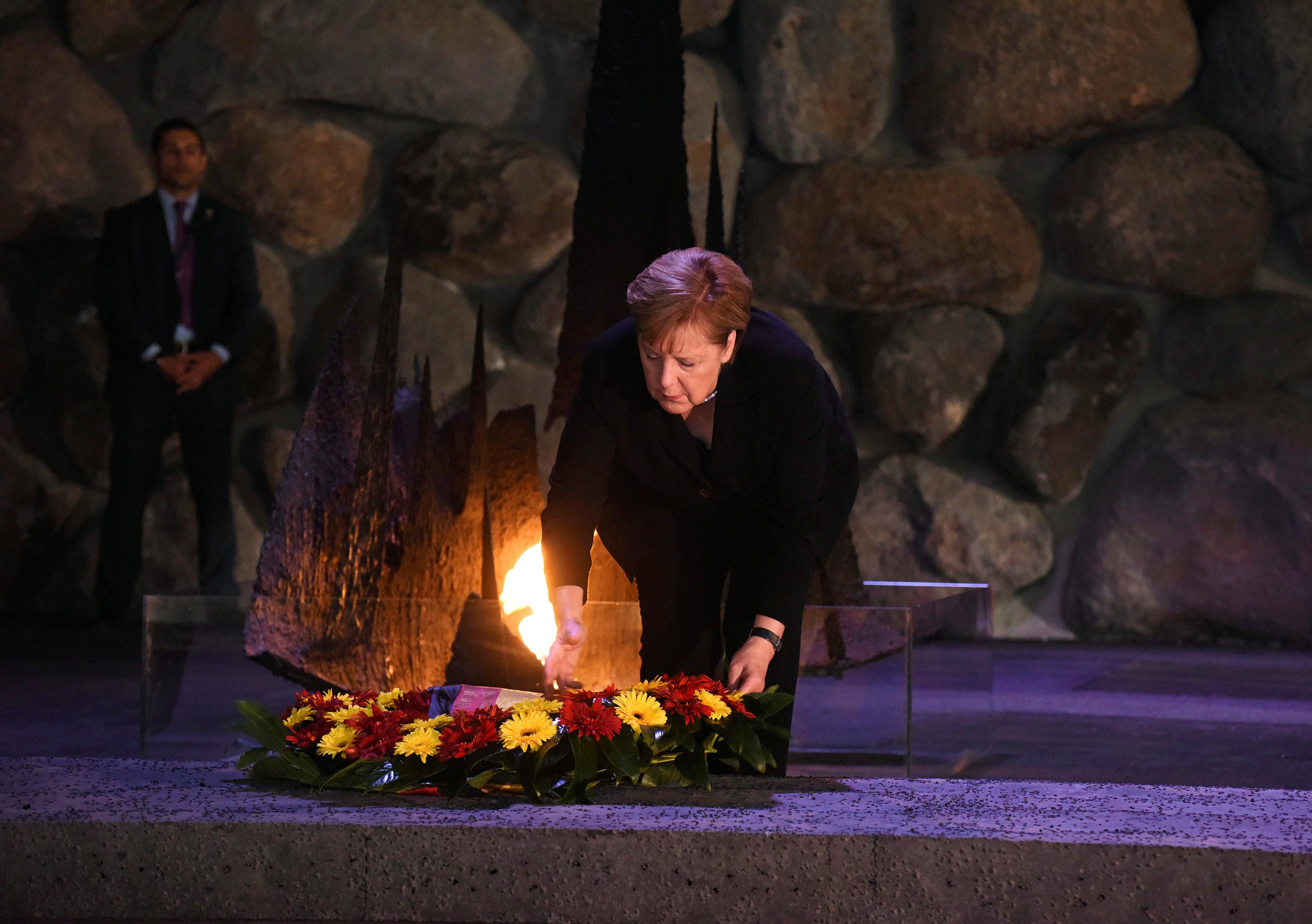 """Merkel en Israel: """"Alemania nunca debe olvidar el Holocausto"""""""