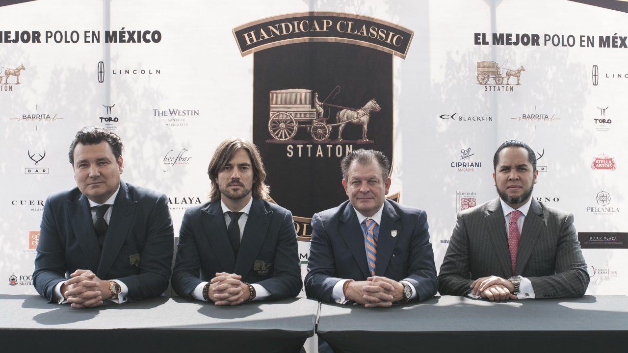 De izquierda a derecha: David Sttaton, Antonio Madrazo, Guillermo Steta y Alberto Cervantes, socio fundador de Handicap Classic. Foto: Angélica Escobar/Forbes México.