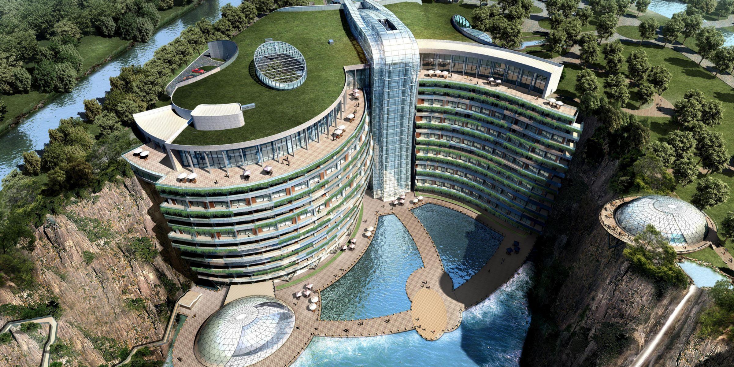 En Shanghai: de mina abandonada a hotel subterráneo de lujo