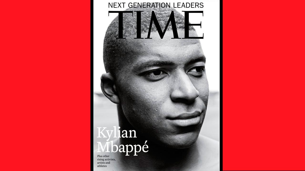 Kylian Mbappé se apodera de la portada de la revista Time