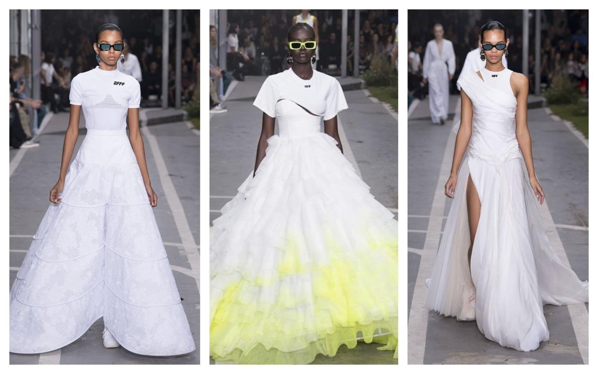 De la cancha al altar, así son los vestidos de novia de Virgil Abloh para Off-White