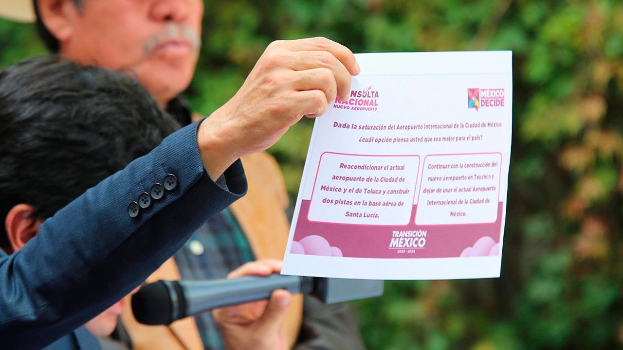 PRI en el Senado pide aclarar financiamiento de consulta del NAIM