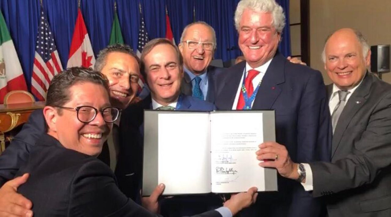 Cúpula empresarial celebra la firma del T-MEC