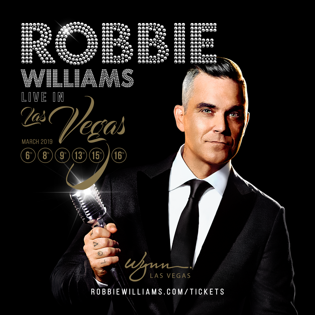 Robbie Williams anuncia su primera residencia en Las Vegas