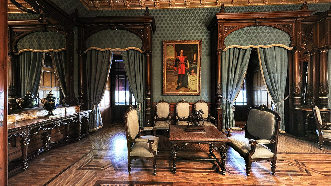 Salón azul. Foto: palacionacional.info.
