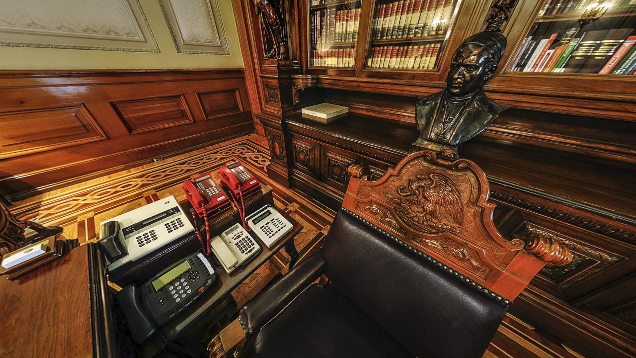 Despacho presidencial. Foto: palacio nacional.info.