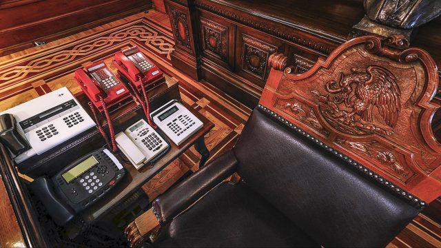 Despacho presidencial, dentro de Palacio Nacional. Foto: palacionacional.info.