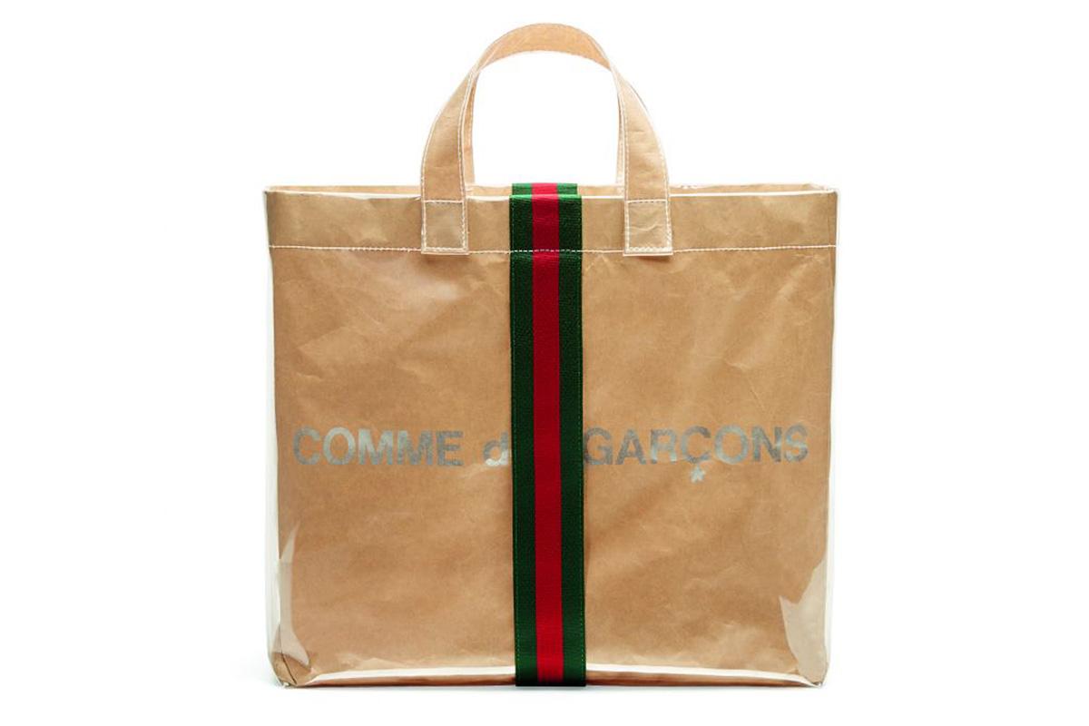 Gucci y Comme des Garçons diseñan una bolsa ideal para fashionistas