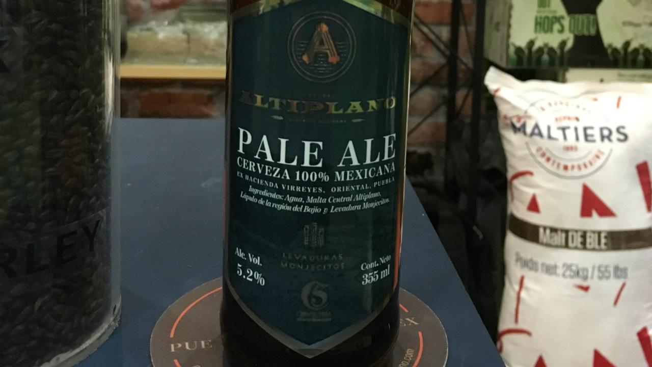 Cerveza Altiplano, con insumos 100% mexicanos
