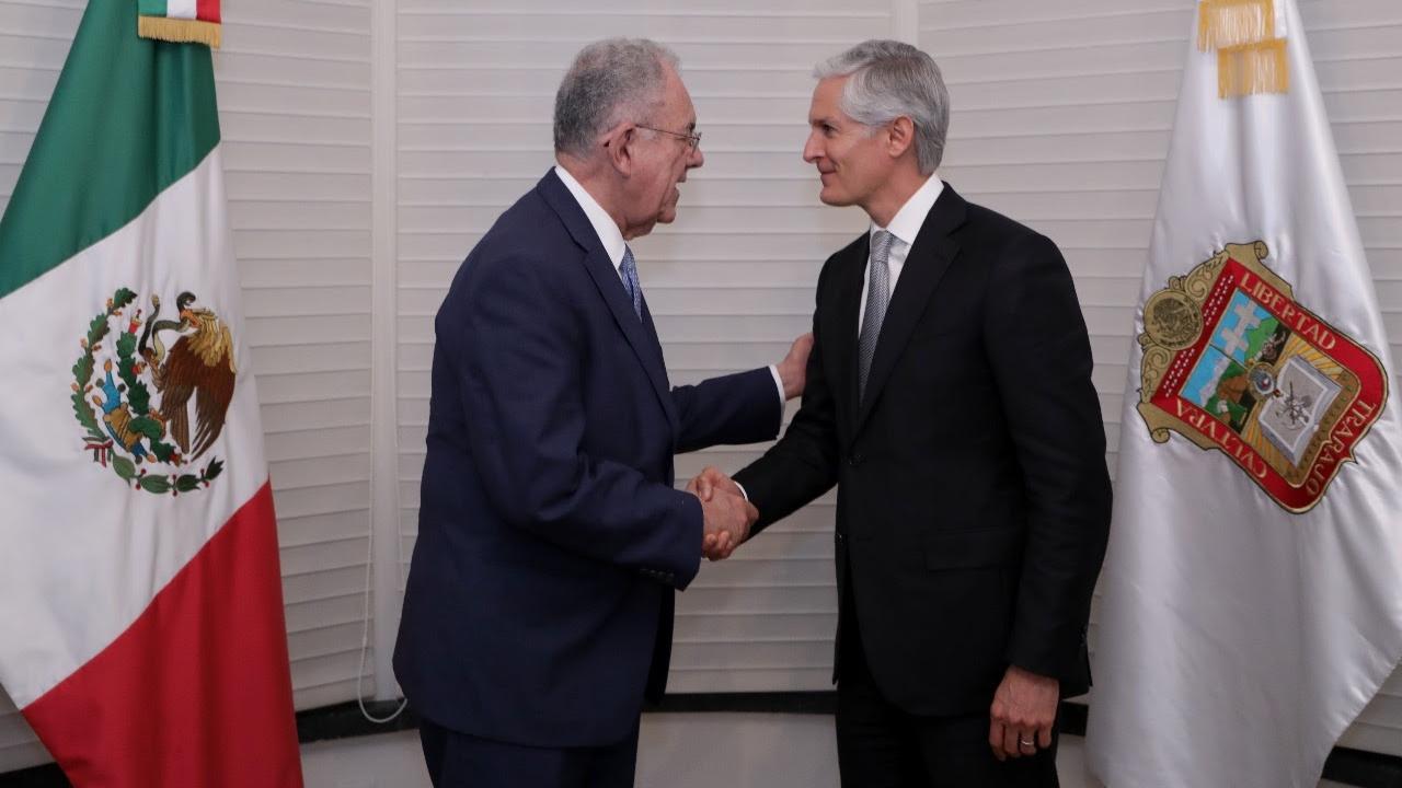 Jiménez Espriú analiza con Del Mazo empuje al aeropuerto de Toluca