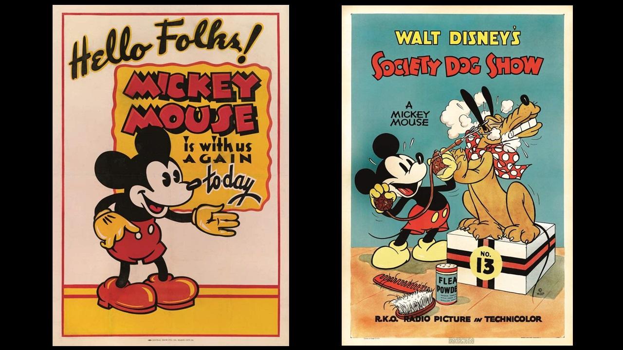 Pósters vintage de Mickey Mouse alcanzarían miles de dólares en subasta