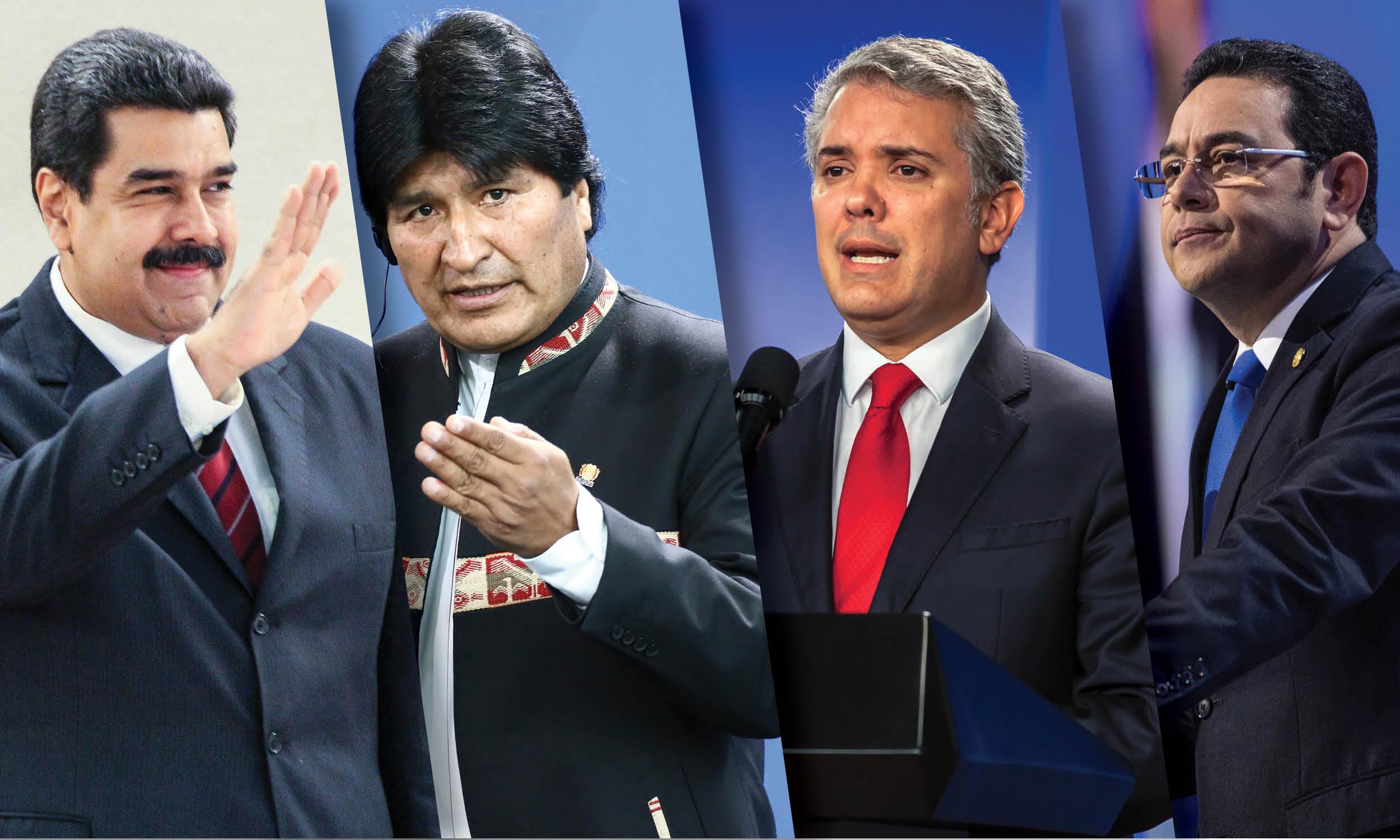 Los presidentes latinoamericanos que asistirán a la toma de protesta de AMLO
