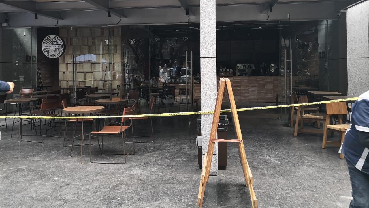 Explosión en cafetería en Lomas de Chapultepec deja 2 heridos