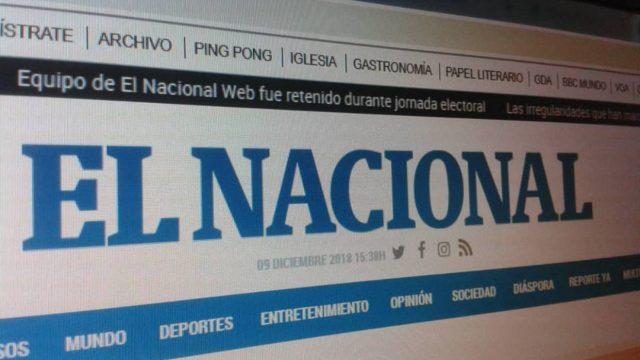 El Nacional de Venezuela seguirá apareciendo momentáneamente via Web.