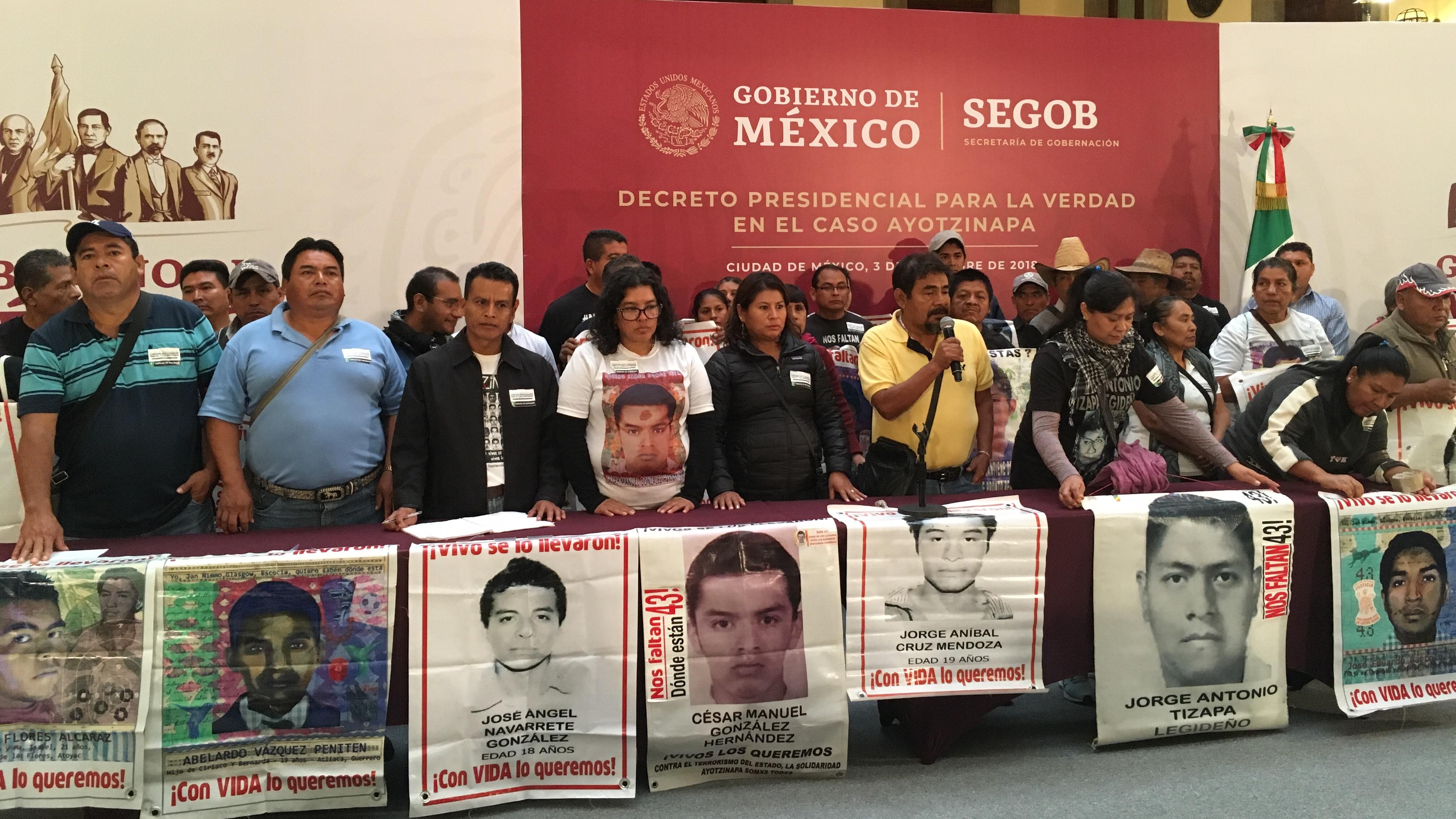 El primer decreto de AMLO: esclarecer el caso Ayotzinapa