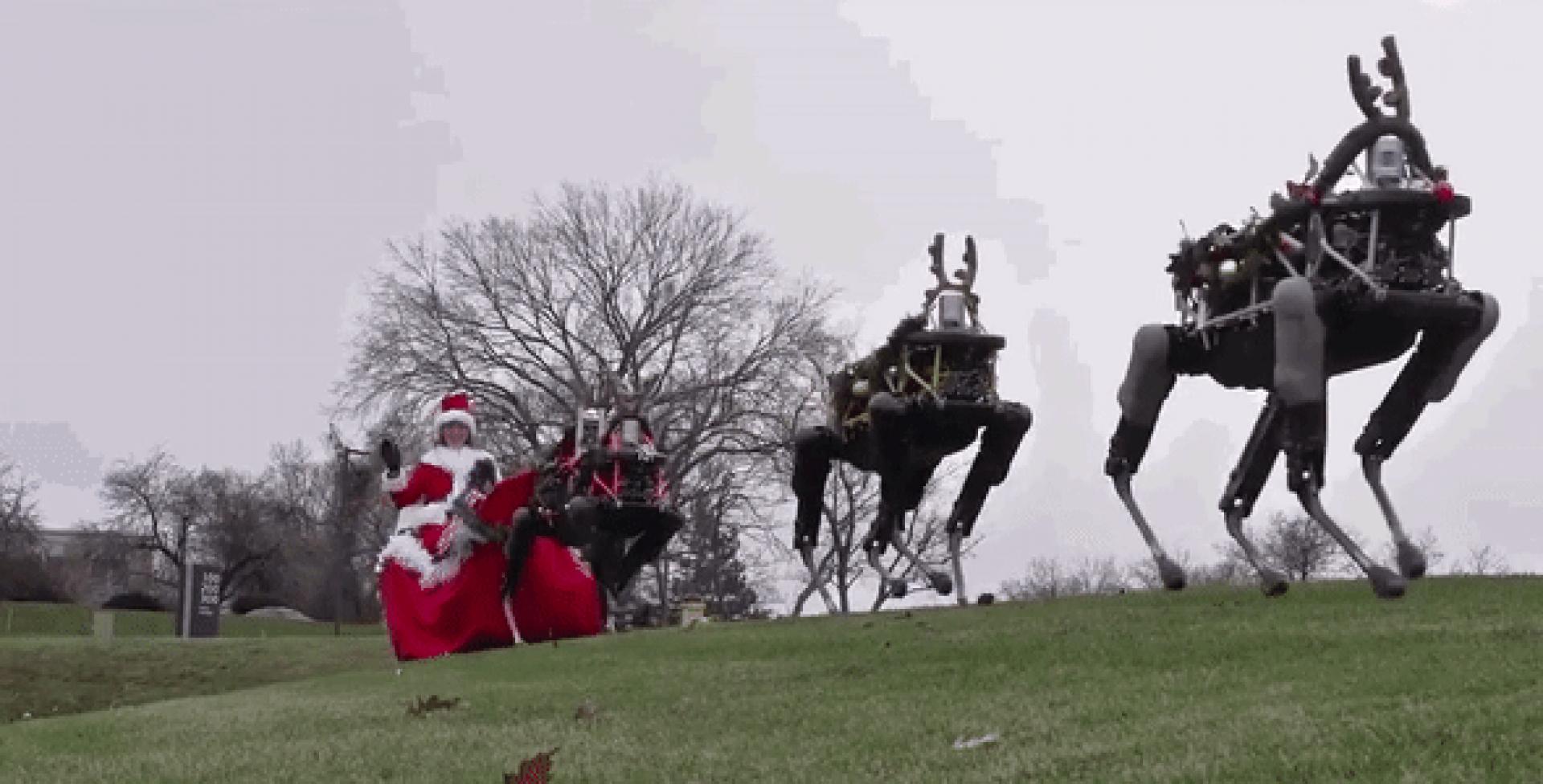 Robots de Boston Dynamics le quitan el trabajo a los renos en Navidad