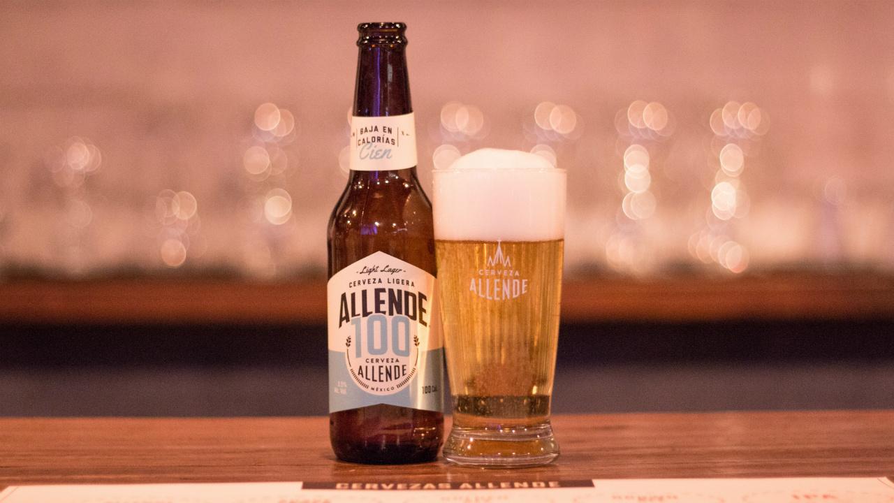 Allende 100: light lager con sólo 100 calorías