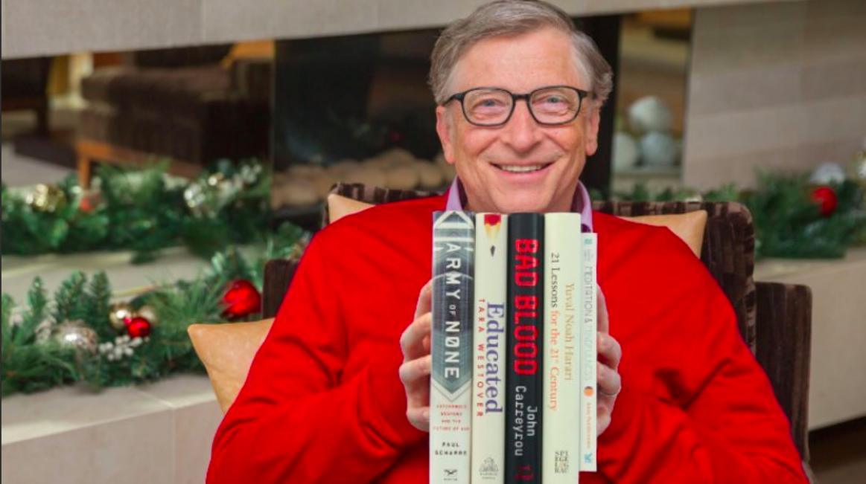 Estos son los cinco mejores libros de 2018, según Bill Gates
