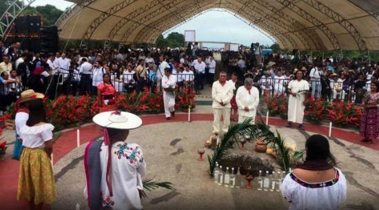 Tzeltales alistan el inicio del ritual para Tren Maya en Chiapas