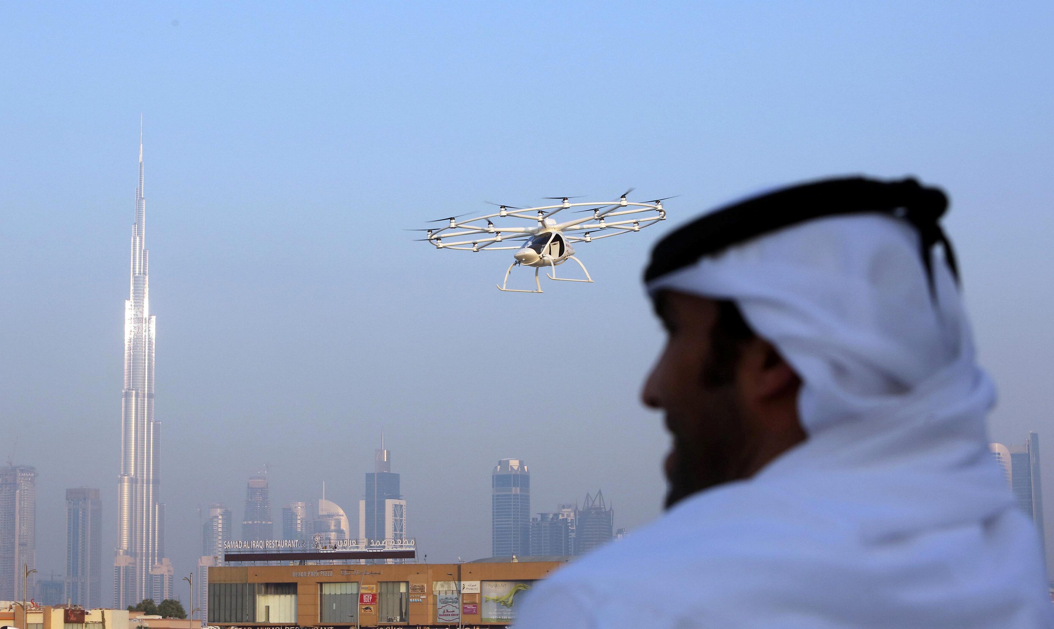 Los taxis voladores, una excentricidad más de Dubai. Foto Reuters.
