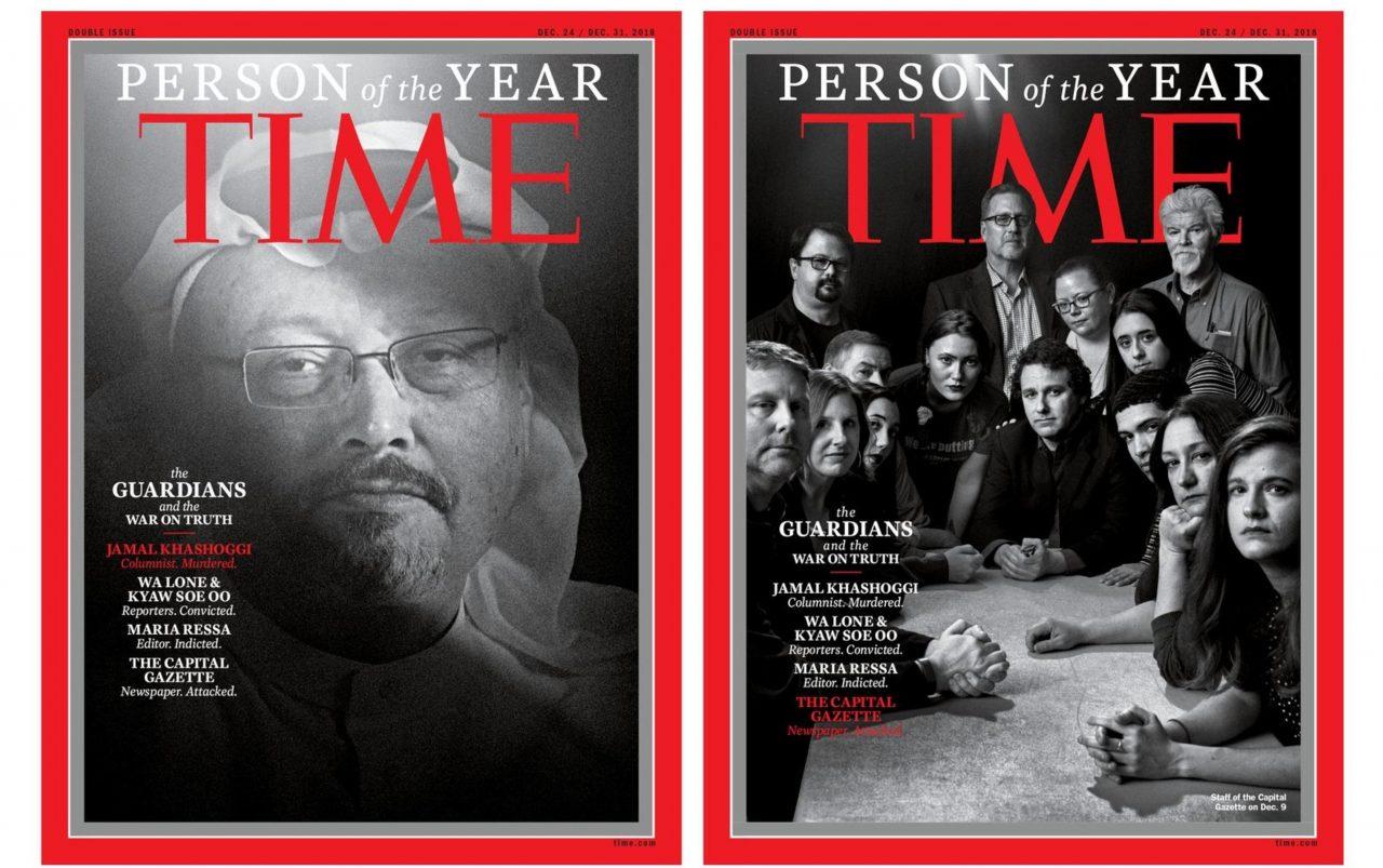 Tres periodistas y un medio, los personajes del año 2018 de Time