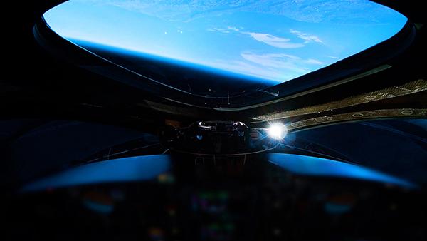 La fotografía, tomada desde el cockpit del VSS Unity dio cuenta de la hazaña para la aviación comercial espacial. Foto Image.net