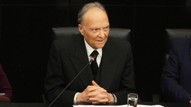 Alejandro Gertz Manero, en su comparecencia ante la Comisión de Justicia del Senado. Foto: Oscar Ramírez/Notimex.