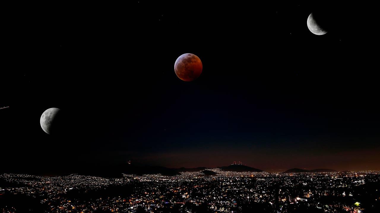 Así se vio la 'Superluna de sangre' desde CDMX