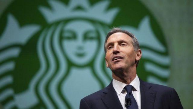 El Ex Presidente de Starbucks competiría contra Trump en elecciones de 2020