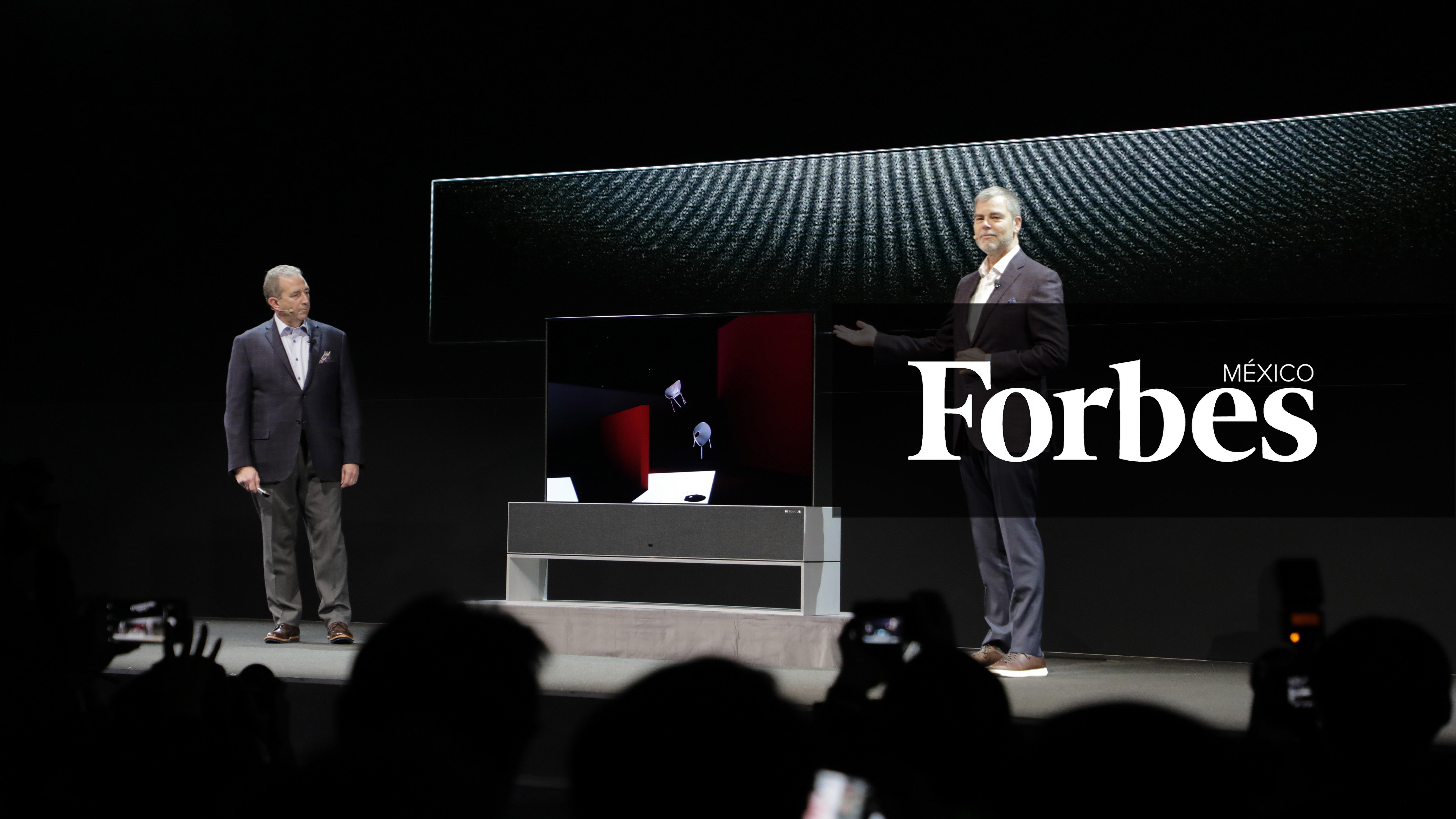 CES 2019 | Así es la TV enrollable que podrás ver en tu casa