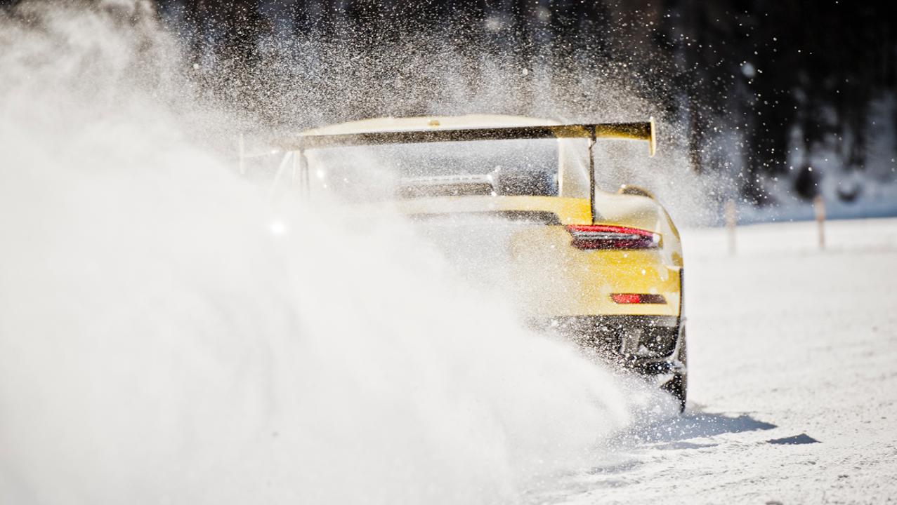 Porsche revive la 'Carrera de Hielo' en Austria