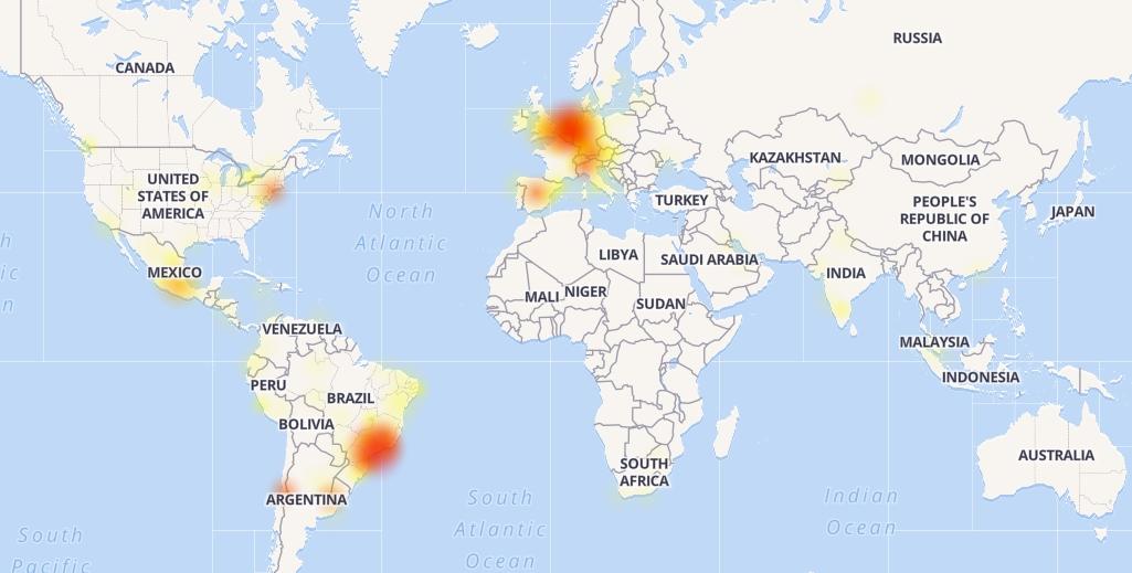 WhatsApp estuvo caído por unos minutos en todo el mundo