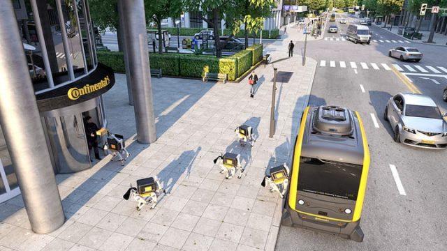 Continental perros robots