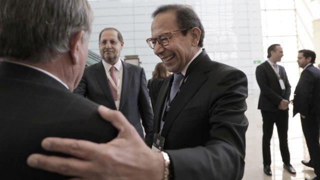Carlos Salazar a su llegada. Foto: Fernando Luna Arce/Forbes México.