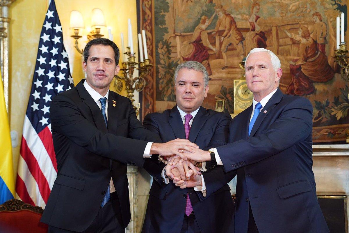 Pence llama a México a reconocer a Guaidó como presidente encargado de Venezuela