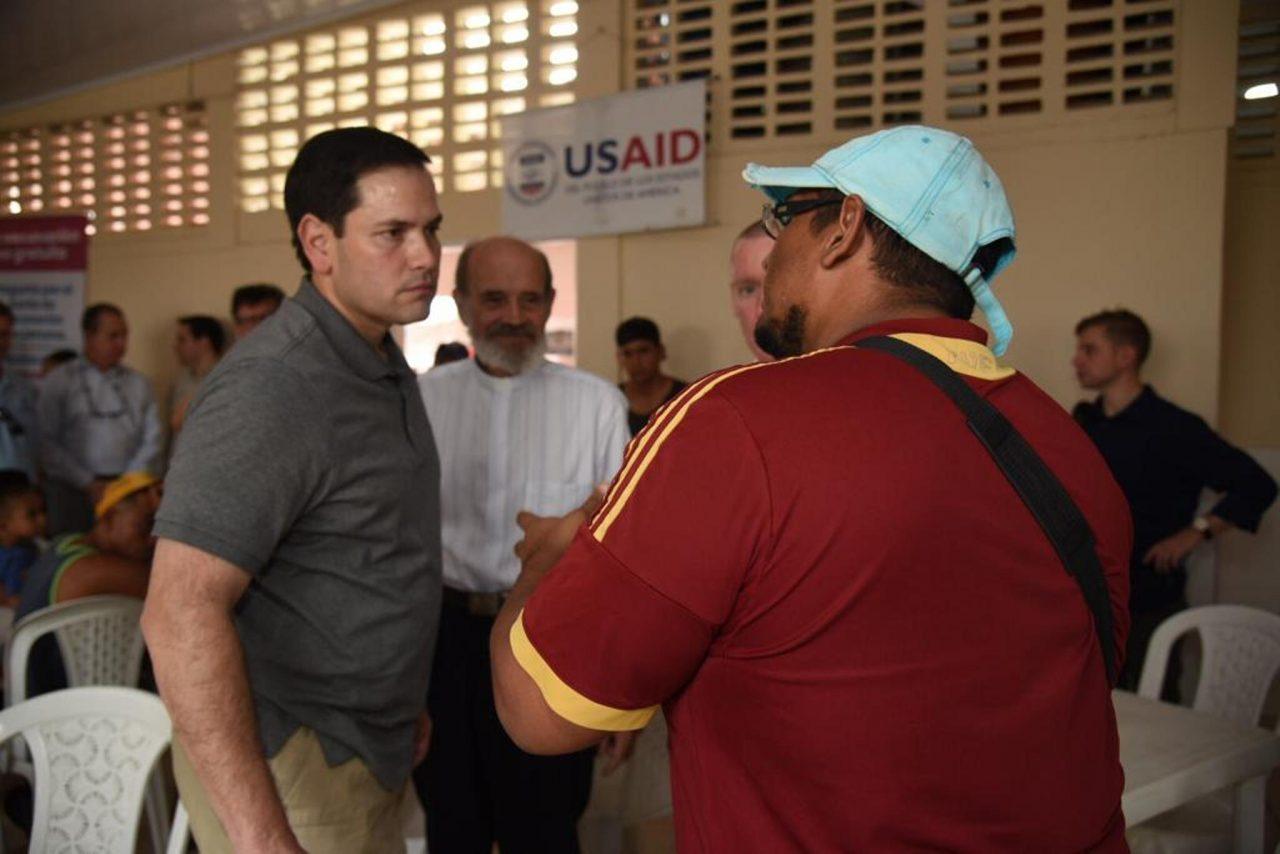 Senador Marco Rubio apoya a la oposición venezolana desde Cúcuta