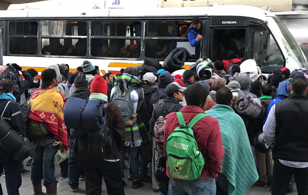 EU regresa a México a primeras familias centroamericanas
