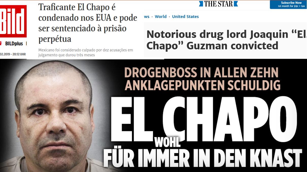 Cómo la prensa internacional informó de la condena de 'El Chapo'