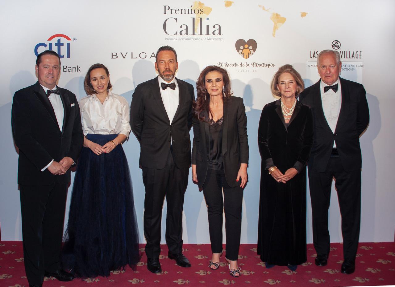Los matrimonios Brodsky y Masaveu reciben los Premios Callia 2019