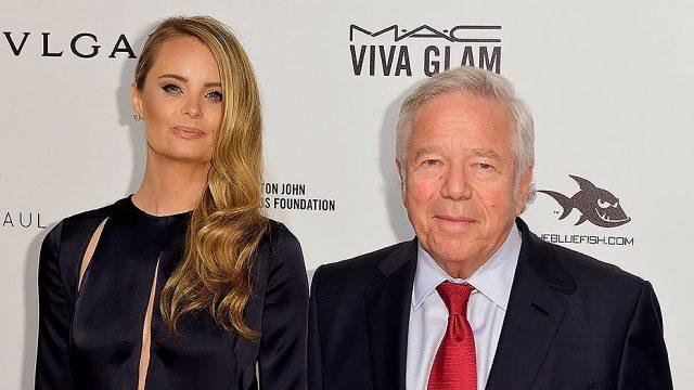Kraft y su novia la actriz Ricki Noel Lander. Reuters.