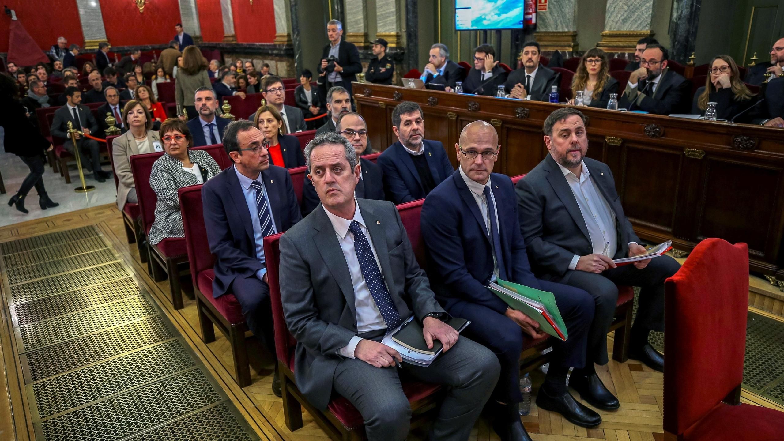 Así comenzó el juicio a los políticos independentistas de Cataluña