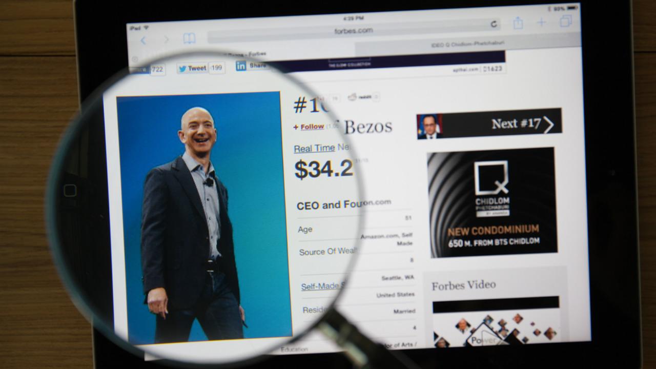 El costo de Jeff Bezos y su imagen ejecutiva