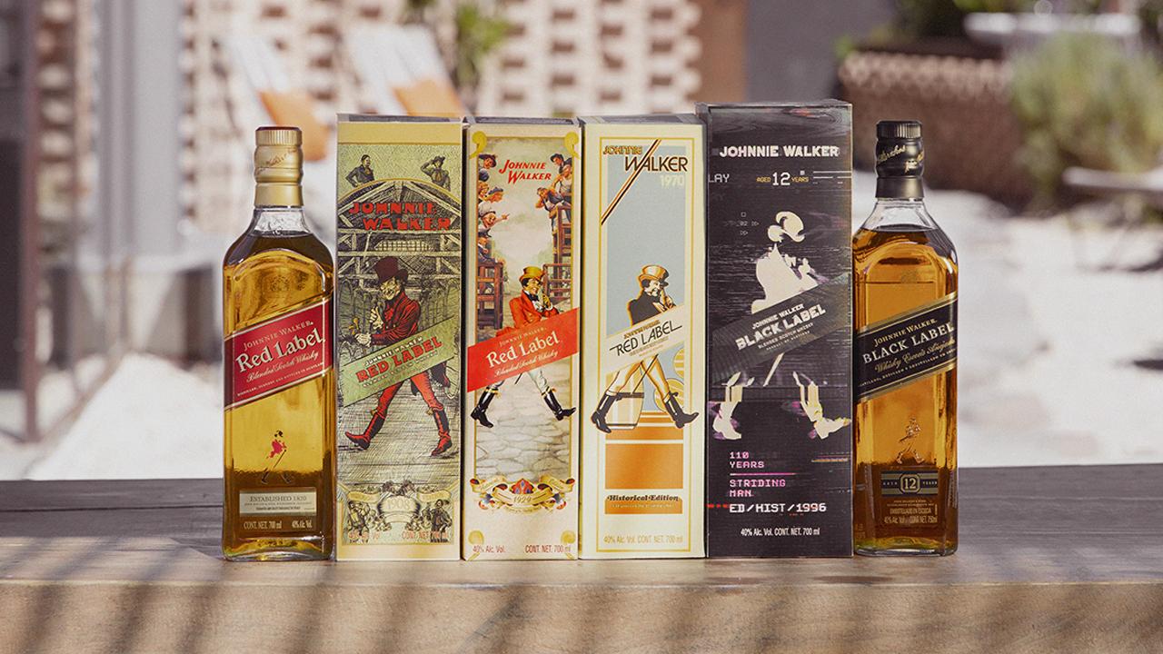 Johnnie Walker lanzará colección de empaques con diseño retro