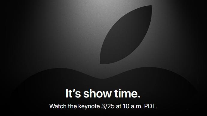 Apple confirma evento el 25 de marzo